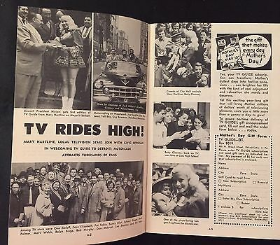 TV Guide MARY HARTLINE Detroit Motorcade, ,1953, Autographed To Buyer