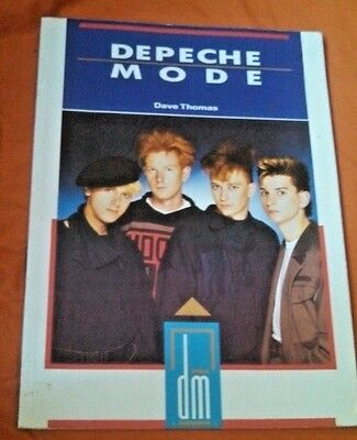 Depeche Mode Book By Dave Thomas Vintage 1986 Illustrated Paperback