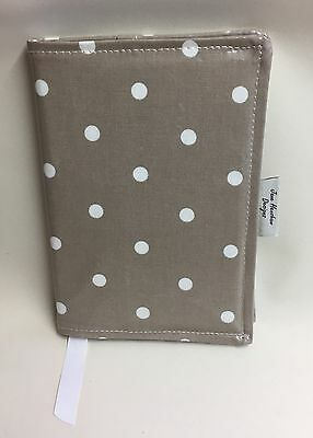 A5 Diary Cover,Week to view A5 diary cover,A5 journal cover,Taupe Spot Oilcloth