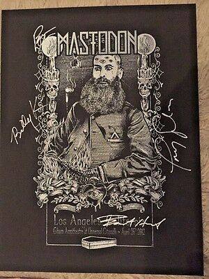 Mastodon Signed Show Poster Gibson Ampitheatre Los Angeles 2012