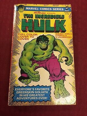 1978 INCREDIBLE HULK Pocket Paperback Book Marvel Comic Series Stan Lee