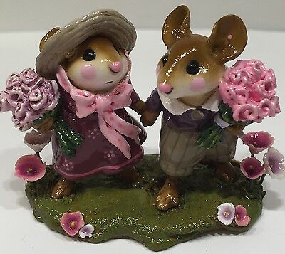 Wee Forest Folk Strolling Through The Seasons Spring Purple & Pink