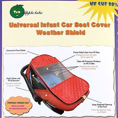 NEW - Car Seat Weather Shield / Rain Cover - GREY  (New York Seller)