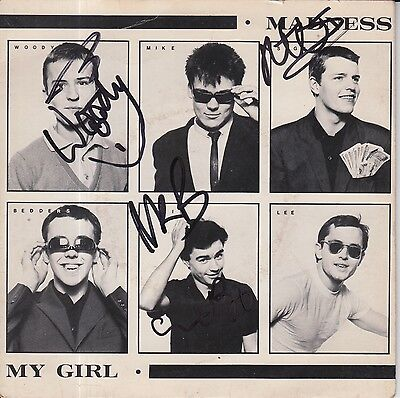 """Madness Hand Signed 7"""" Vinyl My Girl Very Rare Proof 1."""