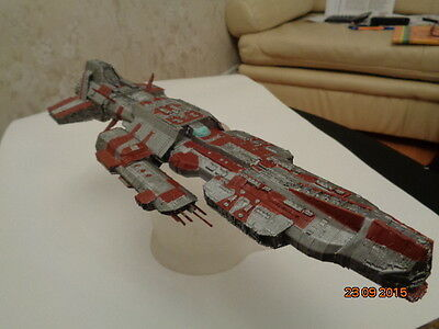 Stargate Atlantis Ancient Aurora-class battleship. Painted. Assembled.
