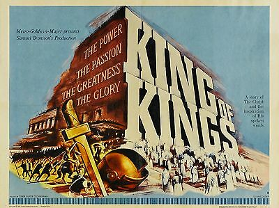 """King of Kings 16"""" x 12"""" Reproduction Movie Poster Photograph"""