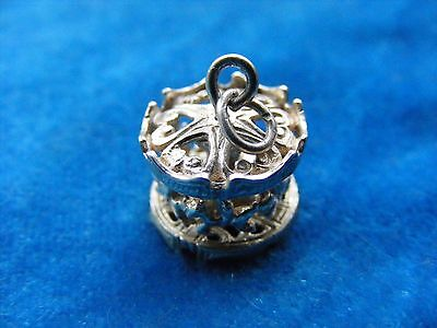 Vintage Sterling Silver Charm Merry Go Round Moves