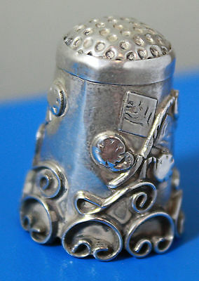 Thimble - Mexico Ornate Sterling Silver 925 Signed