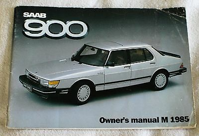 Saab 900 Owner's Manual M 1985 - Slim Paperback