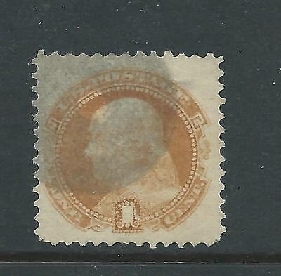 1869 1c Franklin Scott 112, well centred Nice used ML173