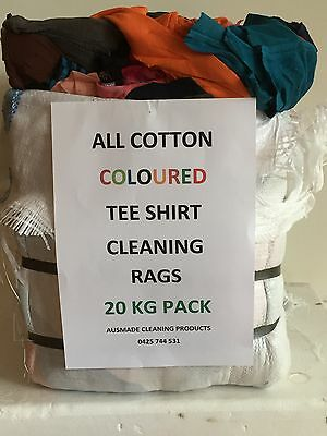 Bag of Rags T SHIRT ALL Cotton Colors 20 KG Bag @ $2.00 Kg Delivered Melb Metro