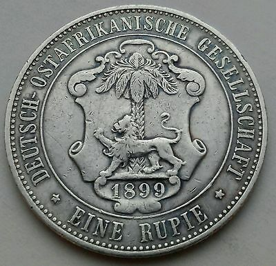 German East Africa 1 Rupie 1899. KM#2. One Silver Dollar coin. Tanzania now.