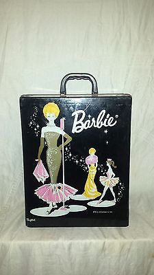 VTG Barbie 1962 BLACK VINYL CASE Ponytail CASE Microphone