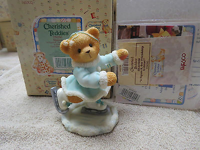 Cherished Teddies - Shannon - Figure Skater A Figure 8 - Our Friendship is great