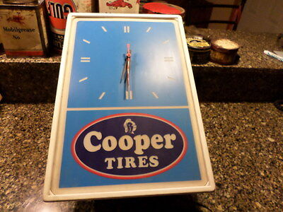 cooper tires advertising lighted clock