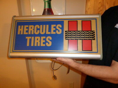 hercules tire lighted sign