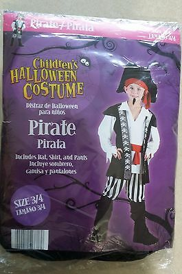 Childs Size 3/4 Pirate Halloween Costume