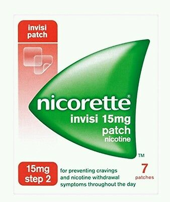 NEW Nicorette Invisi Patch 15 mg Step 2 7 Patches Brand New sealed