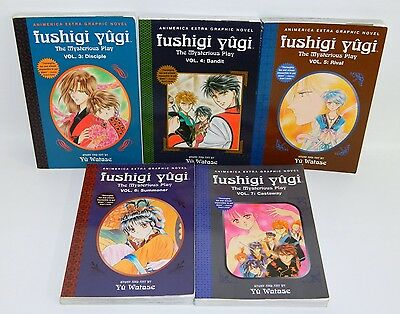 Lot of 5 Fushigi Yugi Books Volumes 3-7 Watase 3 4 5 6 7 Animerica Graphic Novel