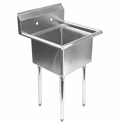 Gridmann 1 Compartment NSF Stainless Steel Commercial Kitchen Prep & Utility -