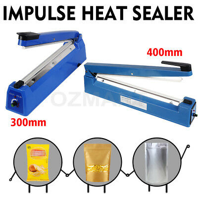 New Impulse Heat Sealer Poly Bag Electric Plastic Sealing Machine 300mm/400mm AU