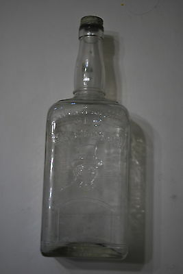 Old Mr. Boston One Quart Clear bottle - Screw on top - NICE!!