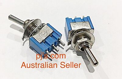 3-Pin SPDT ON-ON 6A 125V AC Mini Toggle Switch MTS-102 x 2