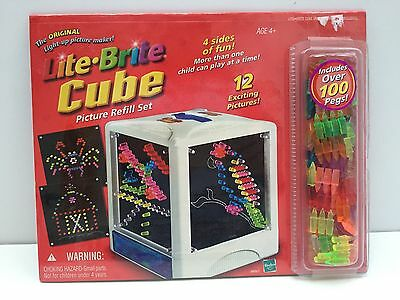 Lite Brite Cube Picture REFILL Set NEW SEALED 12 pictures 100+ pegs 2002 Hasbro