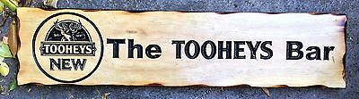 The Tooheys Bar Rustic Pine Timber Sign