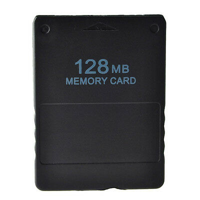128 MB Memory Card Storage Space Game Data for Sony Playstation PS2 Console UK