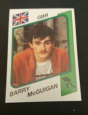 1986 Panini Supersport Stickers #151 RARE BOXING Card BARRY MCGUIGAN  ENGLAND