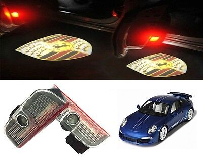 Porsche Under Door Led Puddle Projector Ghost Lights Cayenne Boxster 911 Cayman