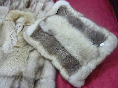 Real Arctic / White Fox Fur Pillow / Cushion. Set Of Two. Free Shipping