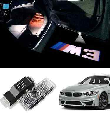 Bmw M3 Logo Under Door Led Puddle Projector Ghost Lights F30 E90 E92 E93