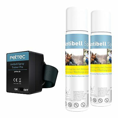 PetTec Antibell Spray Trainer + 2 Antibell Spray Citronella wie Petsafe Innotek