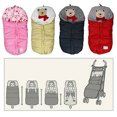 Winter Infant Swaddle Adjustable Infant Wrap Warm Blanket Baby Sleeping Bag