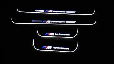 Set of 4 BMW M Sport LED Illuminated Door Sill Plates BMW 5 Series E60 03 to 10