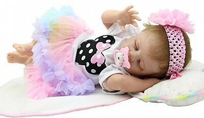 Soft Silicone Baby Sleeping Doll Realistic 20 Inch Toddler Girl Dolly Gift NEW