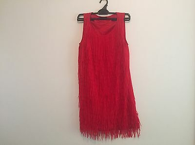 Red Flapper Dress Size 8