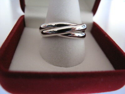 9 ct Palladium White Gold Russian Wedding Ring 3mm wide