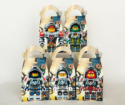 10 Lego Nexo Knights Favour Boxes Themed Kids Birthday Bags Supplies Decorations