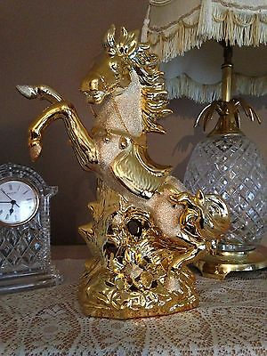 ***Stunning** Horse Ornament Figurine Gold **Romany Bling****. (Price Reduced)