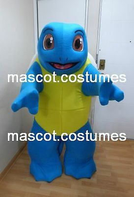 """New squirtle Pokemon Mascot Costume Professional Character 5' 9"""". SPECIAL PRICE"""