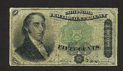 March 3Rd 1863 50 Cents Fourth Issue Dexter Fractional Currency Note