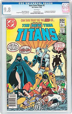 DC New Teen Titans 2 CGC 9.8 - 1ST APPEARANCE OF DEATHSTROKE! WOW KEY