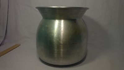 "Diamond Brand Aluminum Pot Mixing Bowl Spittoon decor Made in Thailand 8"" tall"