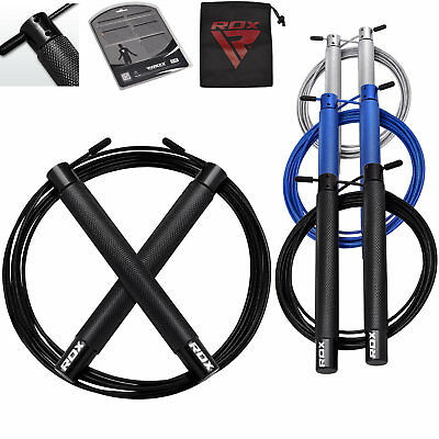 RDX Jump Speed Skipping Rope Cable Adjustable Crossfit Exercise Gym Fitness Wire