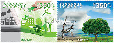Armenia MNH** 2016 New postage stamps dedicated to Europa 2016 Think green NEW