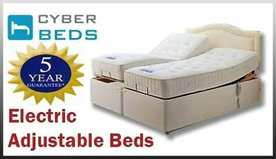 3Ft,4Ft,4Ft6,5Ft,6Ft Adjustable Electric Pocket Sprung Bed - Free Del & Setup