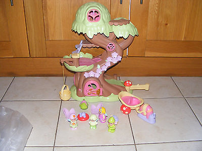 Elc Happyland. Forest Fairy Treehouse And Figures